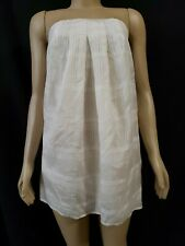 Geren Ford Women Off White Silk Strapless Casual Short Dress or long Top size M