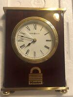 Howard Miller Mantel Clock Model: 613-528 On Box Excellent Engraving On Back (k2