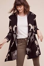 NEW fielel flower horse sweater black thick cardigan dressage sweater coat Small