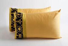 VERSACE Barocco & Robe Medusa Queen Size Bed Duvet Cover + Sheet Set 4 pcs Black