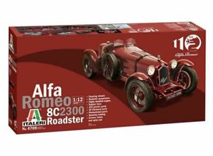 Italeri 4708 Alfa Romeo 8C 2300 Roadster 1:12  Scale Model Car Kit