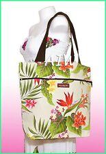 Medium Size reversible Hawaiian print Tote Bag - 123Cream
