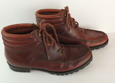Bass Mens 13 Brown Leather Chukka Boots Desert Ranger Lace Up Moccasin Toe