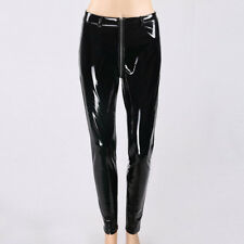 Women Sexy black cool shiny leather look pvc look leggings not pants not latex