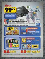 Nintendo 64 Prices Advert KB Toys Nintendo 64- Print Ad Original Art 7.75x10.50