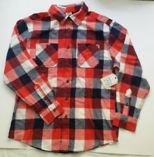 Faded Glory Boys Shirt size XXL/2XG (18) Plaids Checks Red White Blue New