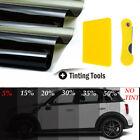 20x10ft Vlt 15 Uncut Roll Window Tint Film Charcoal Black Car Glass Office