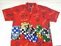Pacific & Co Mens Las Vegas Hawaiian Style Shirt Gambling Dice Size XL NEW