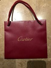 """Authentic Cartier Paper Shopping Gift Bag 8""""x8""""x3"""""""
