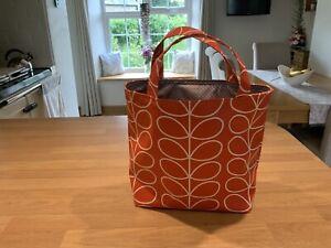 PVC handmade Small Tote Bag Orla Kiely Tomato Stem Fabric