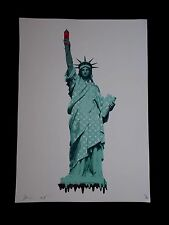 "Serigraphie Originale Death NYC  "" Liberty  ""  , Tirage 100 Ex"