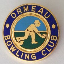 Ormeau Bowling Club Badge Pin Rare United Kingdom Vintage (M14)