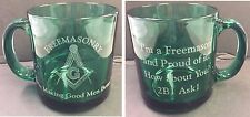 Freemasonry Proud to be a Mason How about you 2B1ASK1 Juniper Green Coffee Cup