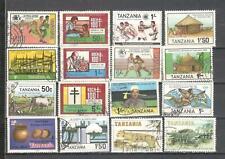S8915 - TANZANIA 1982/86 - LOTTO 16 TEMATICI DIFFERENTI - VEDI FOTO