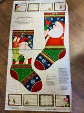 Christmas Stocking panel 12in wide x 24.5in length approx (when finished )