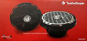 "NEW Rockford Fosgate PM2652B 6.5"" Marine 2-Way Speakers 6-1/2"" BLACK  (1 PAIR)"