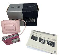 Ge General Imaging A730 7.0 Mp Digital Camera - Pink - Manual, Usb Cable, Case