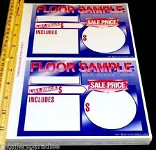 RARE! LOT OF (50) FLOOR SAMPLE RETAIL STORE FLOOR DISPLAY MODEL SALE PRICE SIGNS