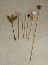 Vintage Batch 6 Hatpins Floral Design Rose Design