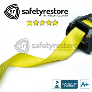 For Porsche Yellow Seat Belt Replacement Service - Change Seat Belt Color!
