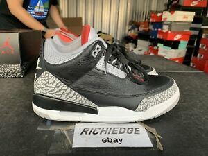 Nike Air Jordan III 3 Black Cement 2018 VNDS Size 8 100% Authentic