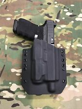 Black Kydex Light Bearing Holster Glock 19/23/32 Threaded Barrel Inforce APL