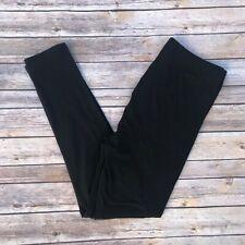 Black Solid Women's Leggings TC2 Extra Plus Size 18-24