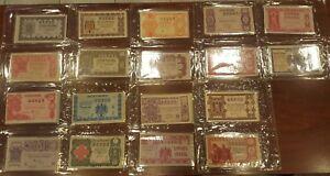 Juego completo 36 decimos Loteria Nacional año 1952 A1