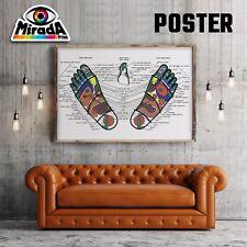 POSTER RIFLESSOLOGIA PLANTARE PIEDE BENESSERE CARTA FOTOGR. 35x50 50x70 70x100