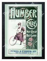 Historic Humber Cycles for Women 1890s Advertising Postcard