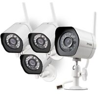 Zmodo 4 Pack 720p Smart WiFI IR IP Security Camera Kit with Night Vision