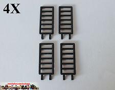 4X Lego® 6020 Piraten Castle Leiter Gitter Zaun Ladder 7X3 mit Clip Schwarz