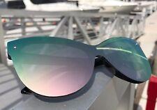 """BARBIE"" Pink Princess Cat Eye OVERSIZED Mirror Women Sunglasses LIM"