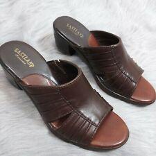 Eastland Brown Heel Open Toe Sandals Women's Size 6 Like a New