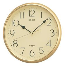 Seiko Gold Colour Wall Clock QXA001G RRP £30.00 now £28.00 Free UK P&P