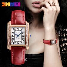 SKMEI Watch Women Girl Watches Leather Strap Waterproof Lady Quartz Wristwatch#