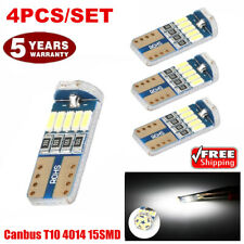 4PCS 6000k Bright White Map Dome License Plate Light LED T10 194 168 W5W Bulbs @