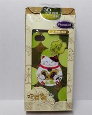 Beautiful 3D Maneki Neko Lucky Cat Iphone 4 / 4S Plastic Case Cover Green