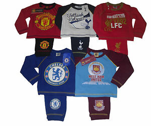 BABY BOYS PYJAMAS OFFICIAL FOOTBALL 9-24 MONTHS