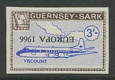 Guernsey SARK 1966 Europa 3s PROOF INVERTED ovpt error