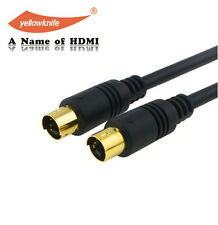 25 Feet S-Video 4 Pin Male to Male Cord Cable Gold Plated For DVD HDTV(SV-06)