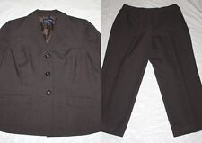WOMENS GRAY PINSTRIPE PANT SUIT pants & jacket = EVAN PICONE = SIZE 18W ss18