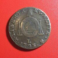 #1581 - RARE - Louis XVI A Sol aux balances 1793 L Bayonne - FACTURE