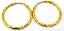 Oro 20K Orecchino a Cerchio Bali Modello Tradizionale Gioielli Easy Apri Chiudi