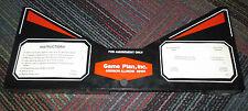 GAME PLAN ATTILA THE HUN PINBALL MACHINE APRON W/ INSTRUCTION & PLAY CARDS, EUC