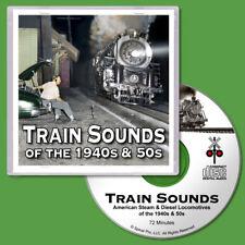 Train Sounds CD Steam & Diesel Locomotives for N Scale Model Railroads