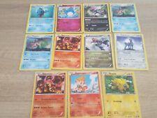 lot 11 carte pokemon offensive vapeur rare holo revers