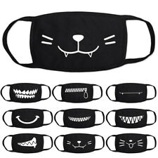 10PCS Cute Cartoon Cotton Face Mask Reusable Washable Mouth Mask Cover Fancy