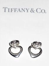 Tiffany & Co Argento Sterling Elsa Peretti Aperto Orecchini a Perno Cuore