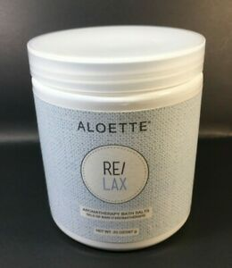 ALOETTE NEW RE/LAX AROMATHERAPY BATH SALTS 20 OZ. Retails for $55.00 USD